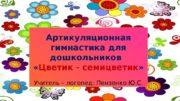 Артикуляционная гимнастика для дошкольников   « Цветик