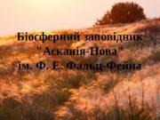 Біосферний заповідник «Асканія-Нова» ім. Ф. Е. Фальц-Фейна