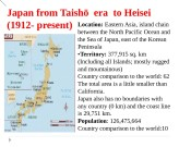 Japan  from Taishō era to Heisei (1912