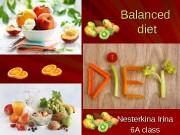 Balanced diet Nesterkina Irina 6 A class
