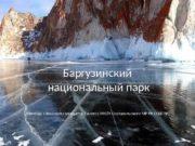 Баргузинский  национальный парк Команда «Эвкалипт» учащиеся 7