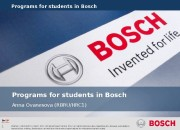 1 Programs for students in Bosch Internal |