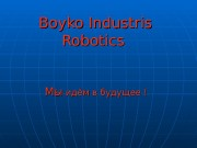 Boyko Industris Robotics   Мы. Мы