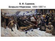 В. И. Суриков.  Боярыня Морозова , 1884