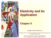 Elasticity and Its Application Chapter 5 Copyright ©