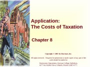 Application: The Costs of Taxation Chapter 8 Copyright