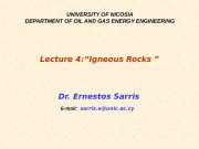 UNIVERSITY OF NICOSIA DEPARTMENT OF OIL AND GAS