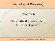 International Marketing Philip R. Cateora, Mary C. Gilly,