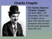 Charlie Chaplin  • Sir Charles Spencer