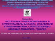 Государственное образовательное учреждение высшего профессионального образования «Сибирский Государственный