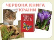 ЧЕРВОНА КНИГА УКРАЇНИ  Червона книга України —