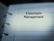 Презентация classroom management