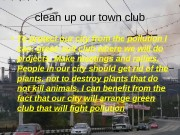 Презентация clean up our town club