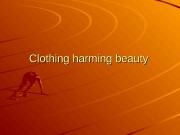 Clothing harming beauty  clothes Sport  Foodball