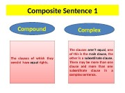 Composite Sentence 1 Compound  Complex The clauses