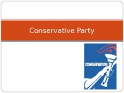 Conservative Party  Origins in the Whig Party