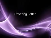 Презентация cover letter