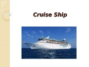 Cruise Ship   A cruise ship