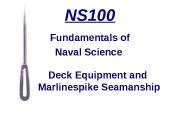 Презентация deck-equipment-and-marlinspike-seamanship3375