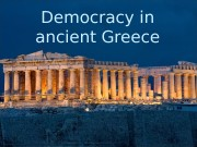 Презентация democracu in ancient greece