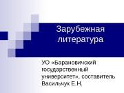 Зарубежная литература УО «Барановичский государственный университет» , составитель