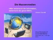 Die Massenmedien Автор: Воронцова Л. В. — учитель