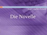 Презентация die Novelle