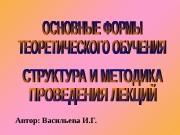 Автор: Васильева И. Г.  внешняя сторона организации