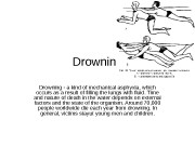 Drowning — a kind of mechanical asphyxia, which