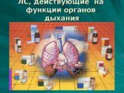 ЛС, действующие на  функции органов  дыхания