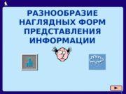 1 РАЗНООБРАЗИЕ НАГЛЯДНЫХ ФОРМ ПРЕДСТАВЛЕНИЯ ИНФОРМАЦИИ  Москва,