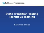 Презентация e learning State Transition Testing Technique