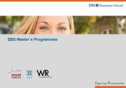 EBS Master´s Programmes  EBS Universität, Marketing /