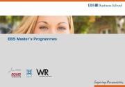 EBS Master´s Programmes  EBS Universität, Marketing /