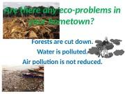 Презентация ecological problems 7v