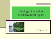 Ecological situation in Chelyabinsk region ©  Pavel