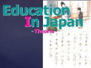 { In Japan children go to elementary school