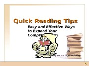 Quick Reading Tips Easy and Effective Ways to