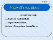 Кафедра физики PLAN OF LECTURE 1.  Rotational