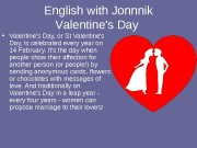 English with Jonnnik V alentine's Day  •