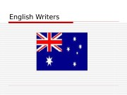 Презентация english writers 0