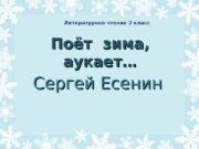 Поёт   зима,  аукает… Сергей Есенин
