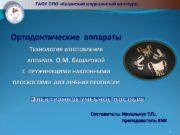 1 ГАОУ СПО «Казанский медицинский колледж» Составитель: Михальчук