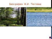 Биография  Ф. И.  Тютчева  Фёдор