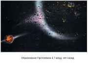 Образование Протоземли 4, 7 млрд. лет назад