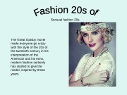 Sensual fashion 20 s The Great Gatsby movie