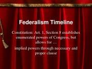 Презентация federalismtimeline if ineterested