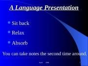 Joyet  2004 1 A Language Presentation