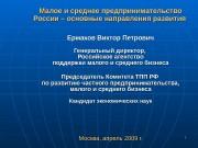 1 11 Малое и среднее предпринимательство России