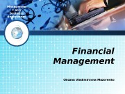 Managemen t and business department Financial Management Oksana